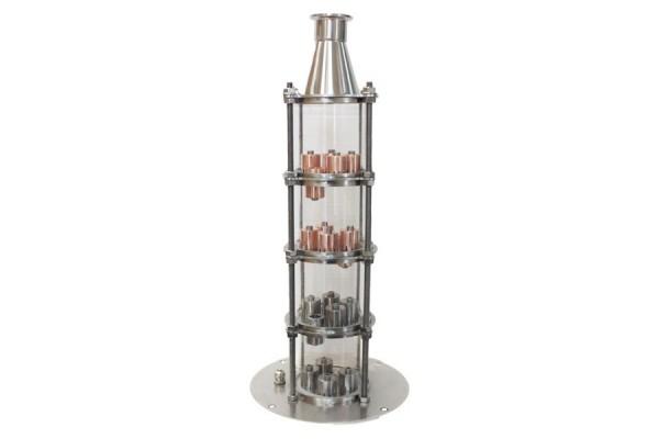 Кварцевая колонна 4 уровня для бака СМ (нержавеющая сталь+медь).
